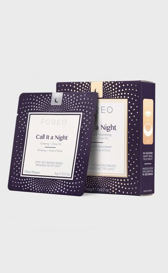 Foreo - UFO Mask Call It a Night - Pack of 7 in Black