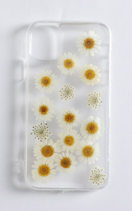 Summer Floral Pressed Flower iPhone Case In Yellow