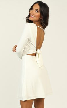 Loving It Right Dress In White