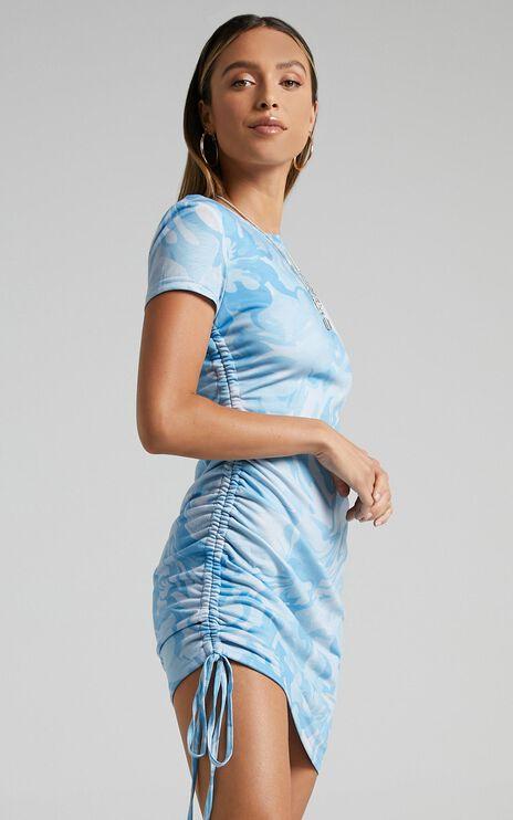 Melian Dress in Blue Marble