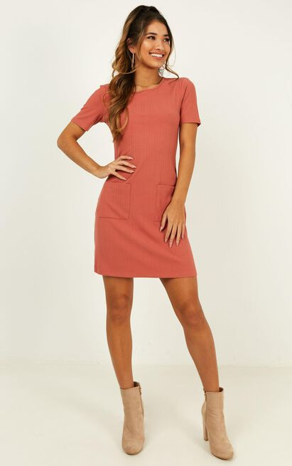 Face Value Dress in rust - 20 (XXXXL), Rust, hi-res image number null