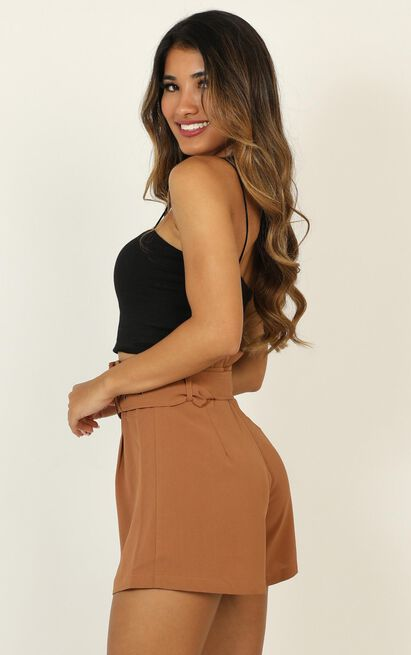 Only For Your Eyes shorts in camel - 16 (XXL), Camel, hi-res image number null