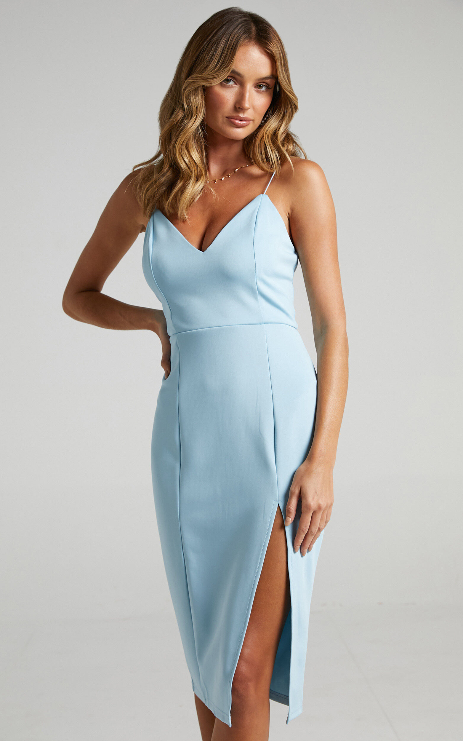 Big Ideas Midi Dress in Light Blue - 04, BLU2, super-hi-res image number null