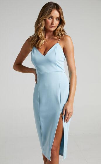 Big Ideas Midi Dress in Light Blue