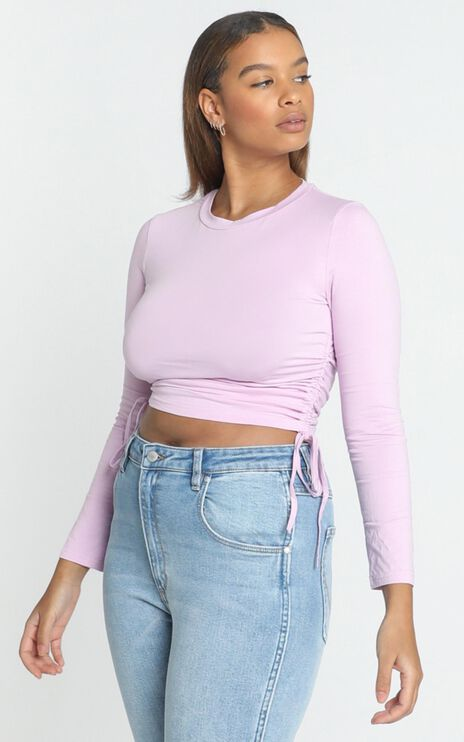 Like Never Before Top in lilac