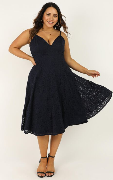 Far Beyond Dress In Navy Lace