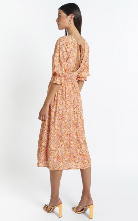 Milan Dress in Blushing Floral