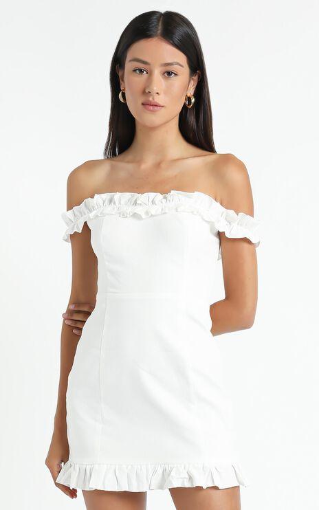 Days Of Summer Dress In White Linen Look