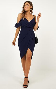 A Fair Go Dress In Navy
