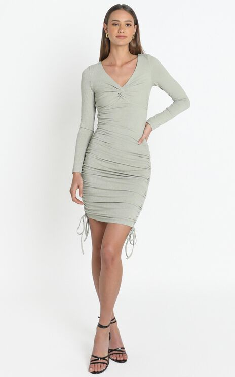 Naiya Dress in Khaki