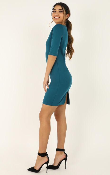 Searching For Love Dress In Teal