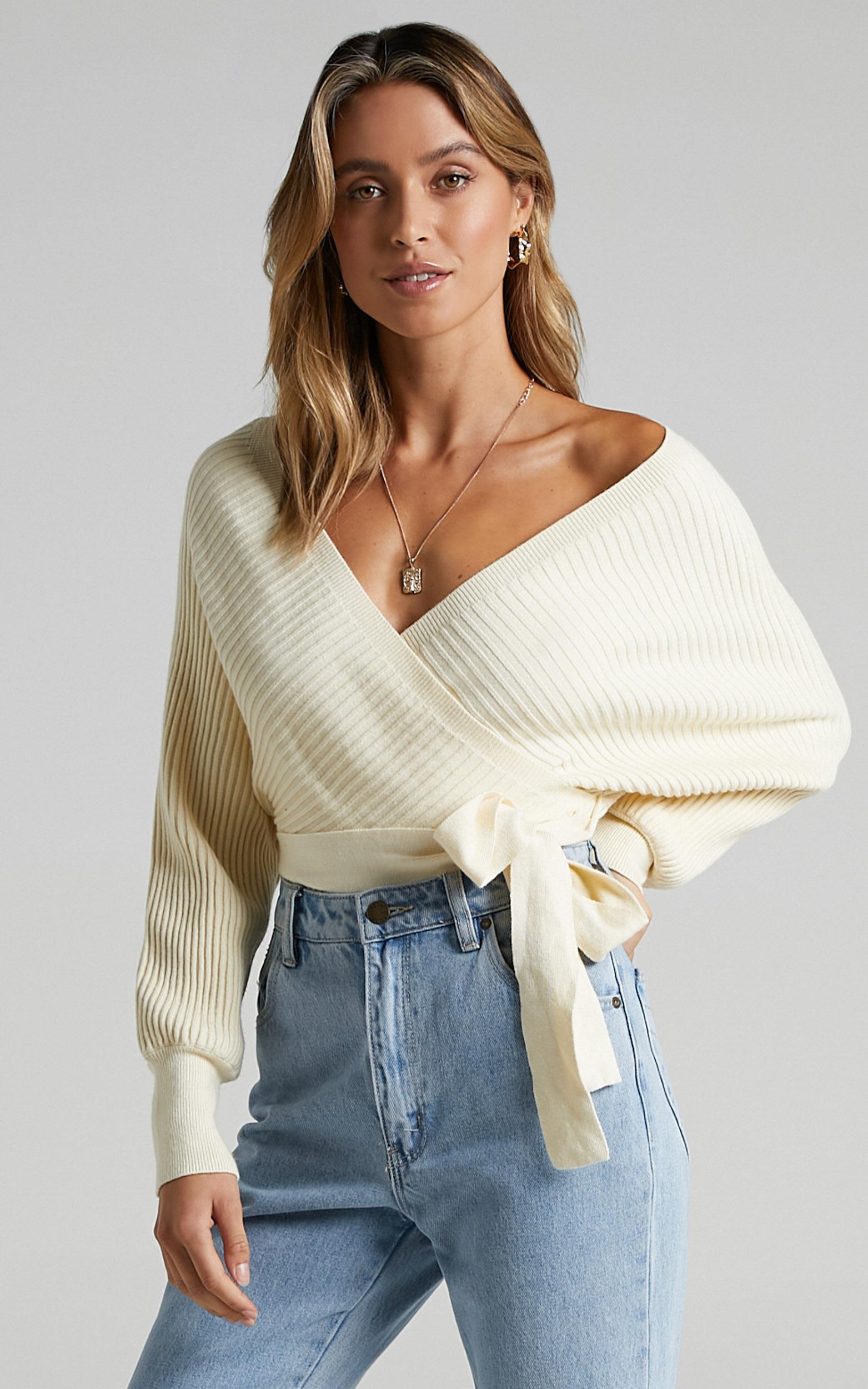 Camry Knit Bodysuit in Cream - 04, CRE2, super-hi-res image number null