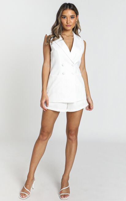 Daily Summary Blazer Vest in ivory - 20 (XXXXL), White, hi-res image number null