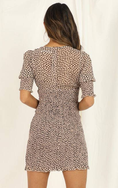 Lift Your Head dress in leopard print - 12 (L), Brown, hi-res image number null