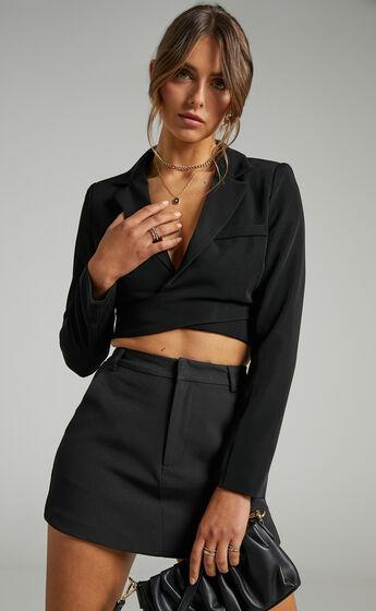 Braden Tailored Skort in Black