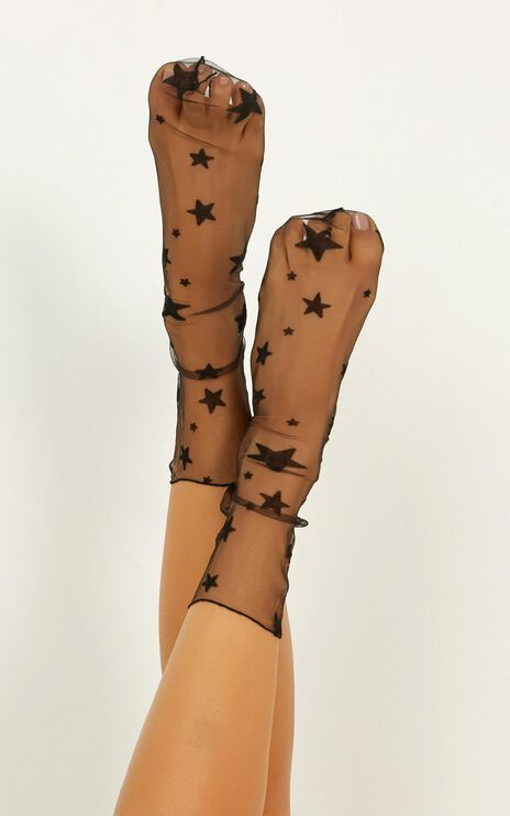 All About Me Socks In Black