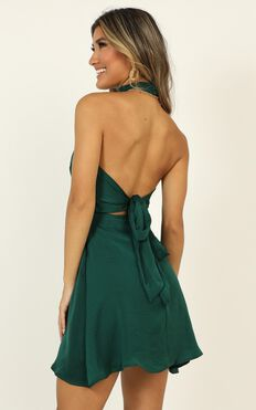Dont You Dress In Emerald Satin
