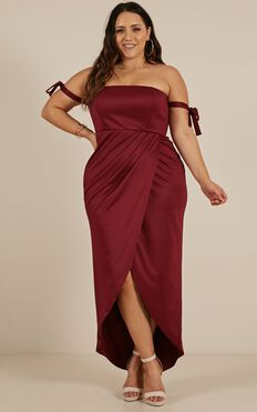 Already Home Dress In Wine