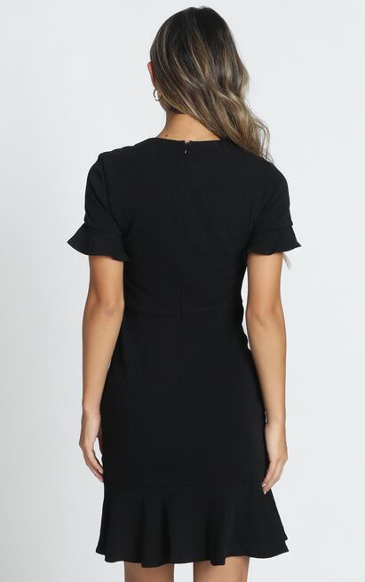 Authority Dress In Black - 4 (XXS), Black, hi-res image number null