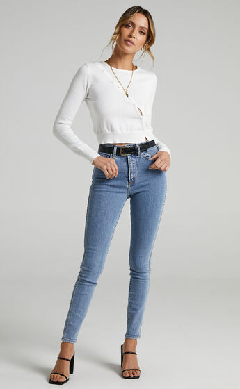 Alayah Knit Top in White