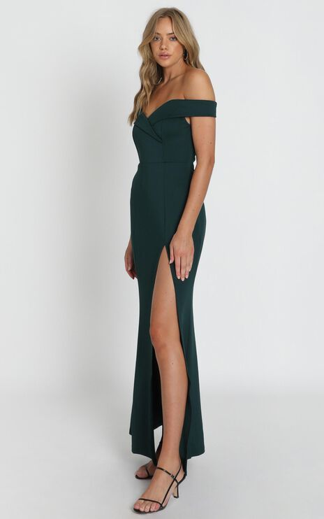 One For The Money Dress In Emerald