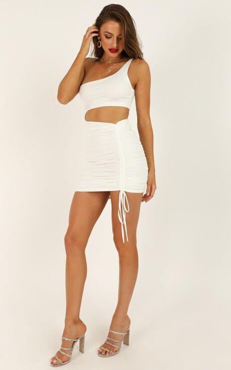 Strong Enough Dress In White
