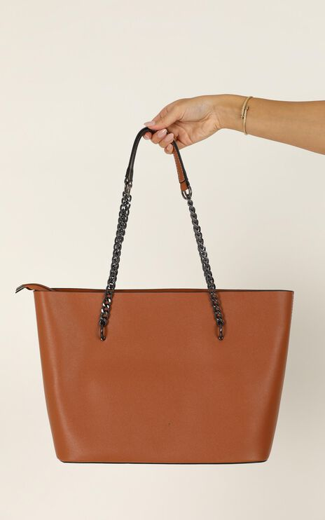 Give You Up Bag In Tan And Silver