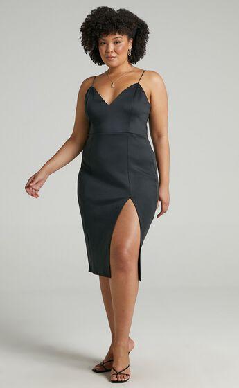 Big Ideas Midi Dress in Black