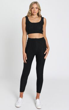 Cassidy Knit Two Piece Set in Black