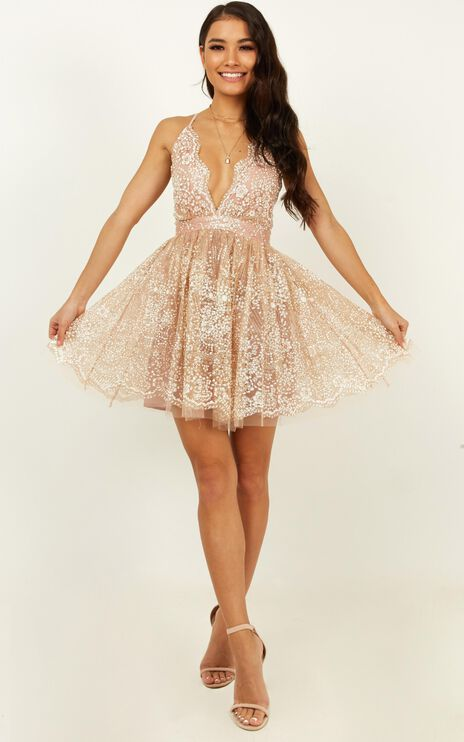 Drop Of Magic Dress In Rose Gold