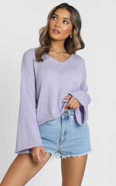 My Signature Knit In Lilac