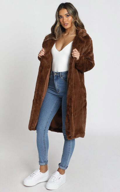 Warm And Cosy Coat in chocolate - 20 (XXXXL), Brown, hi-res image number null