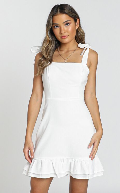 Coastal Getaway Dress In White