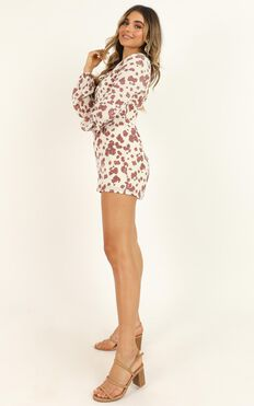 Typical Holiday Playsuit In White Floral