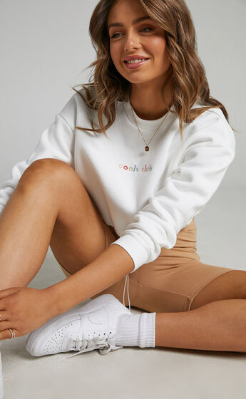 Cools Club - Club Sweatshirt in White