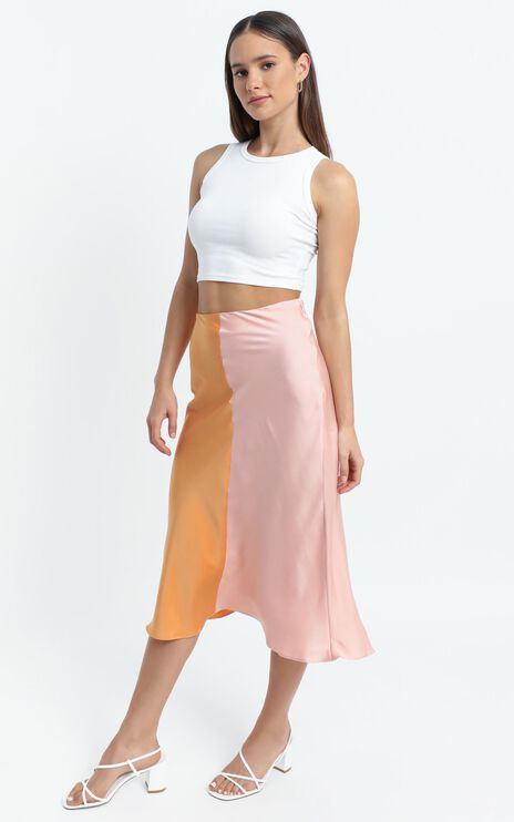 Addington Skirt in Pink and Orange