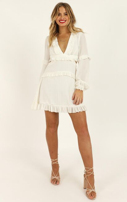 I Feel Great Dress In white lurex Stripe - 20 (XXXXL), White, hi-res image number null