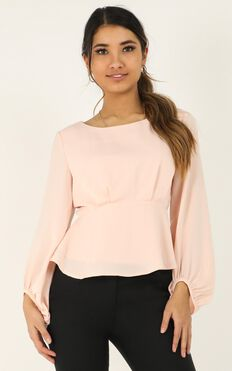 Three Steps Ahead Top In Blush