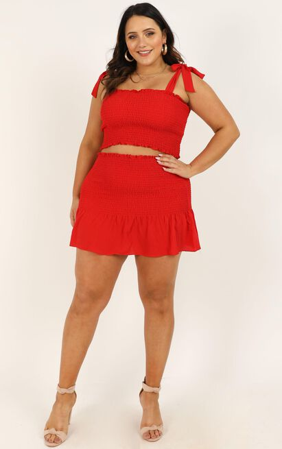 Bright Spot Two Piece Set In Red - 20 (XXXXL), Red, hi-res image number null