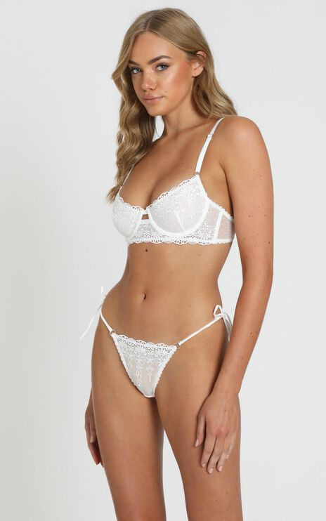 Kat The Label - Dahlia Lace Brief in White