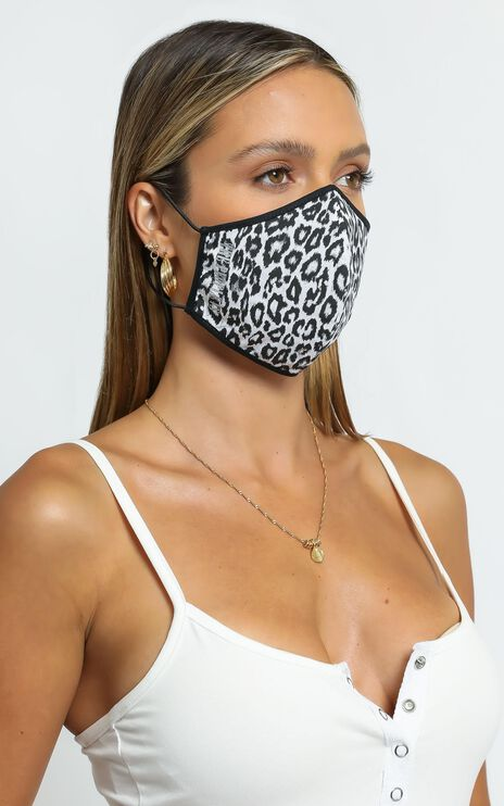 The People Vs X Leopard Face Mask