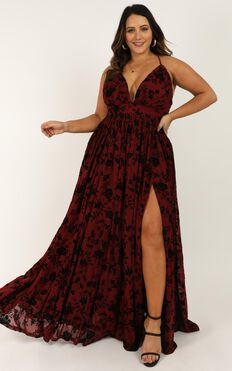 All Of Me Loves All Of You Dress In Wine Flock