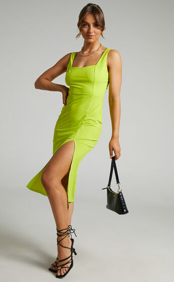 Feel the Love Dress in Chartreuse
