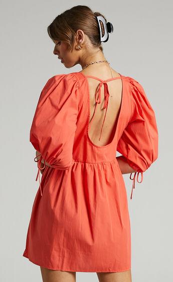 Claudeth Mini Dress in Oxy Fire