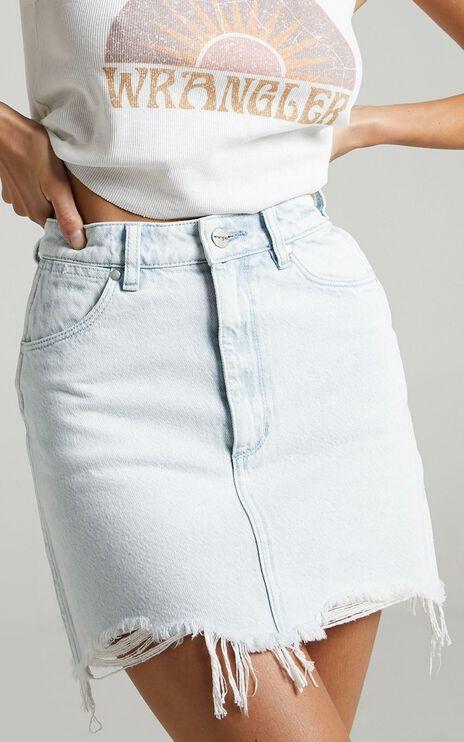 Wrangler - Repair Mini Denim Skirt in Whitewater