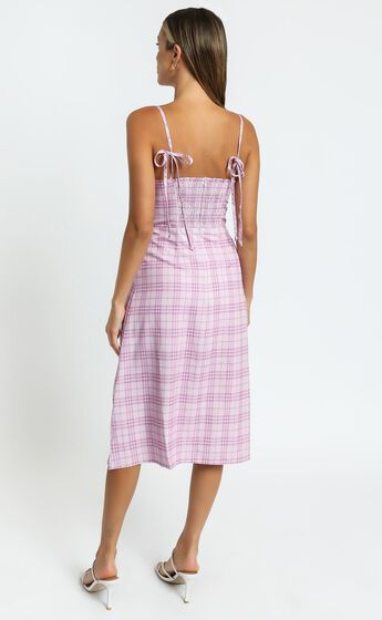 Darcey Dress in Pink Check