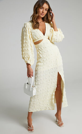 Tabatha Dress in Cream Check