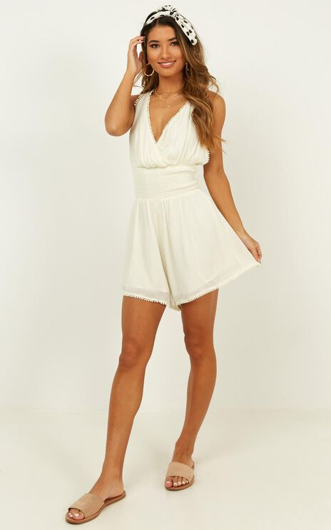 Sing With Me Playsuit In Natural