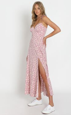 Groove On Dress In Pink Floral