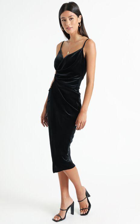 Loving Blind Dress in Black Velvet